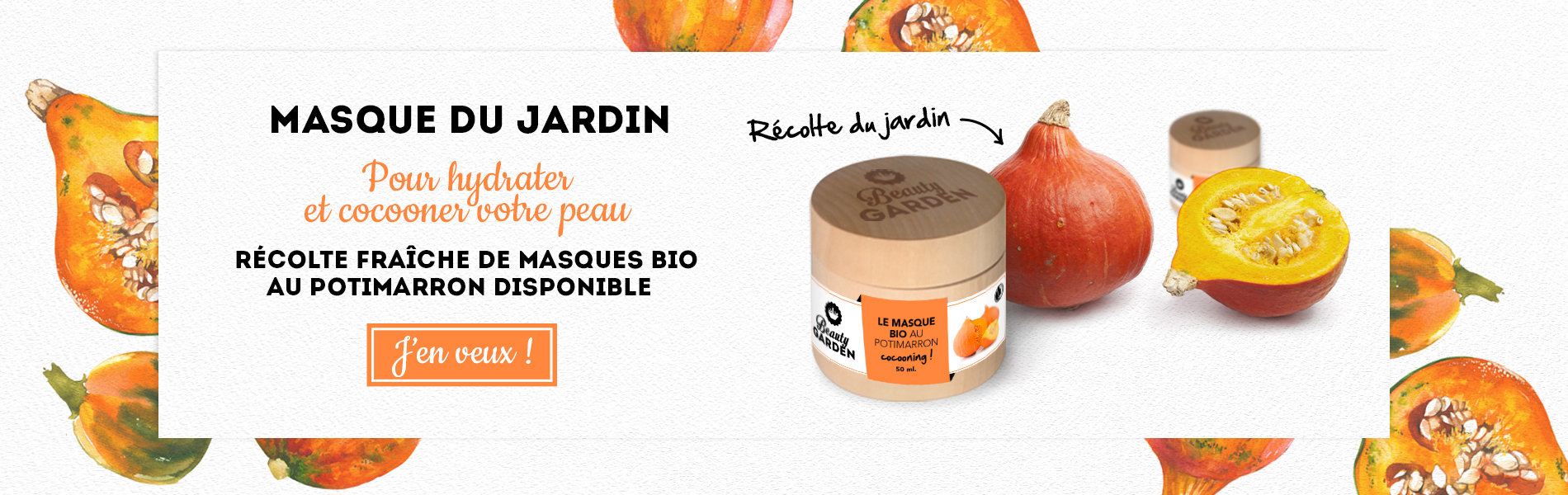 Masque Potimarron bio Beauty Garden