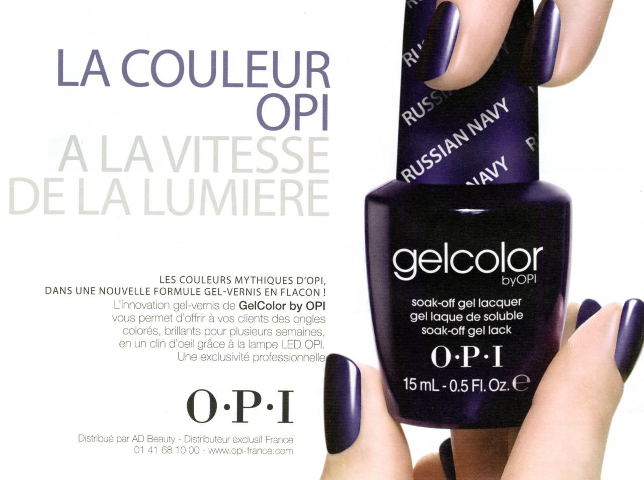 GelColor OPI vernis couleur semi-permanent
